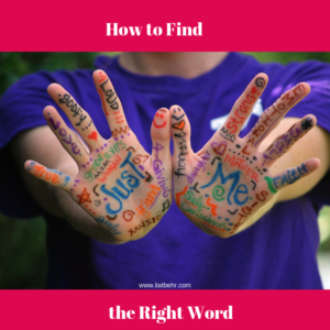 find the right word