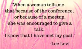 Lee Levi – Promotes Women Speakers